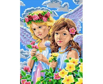 Картина по номерам Девочки-ангелы