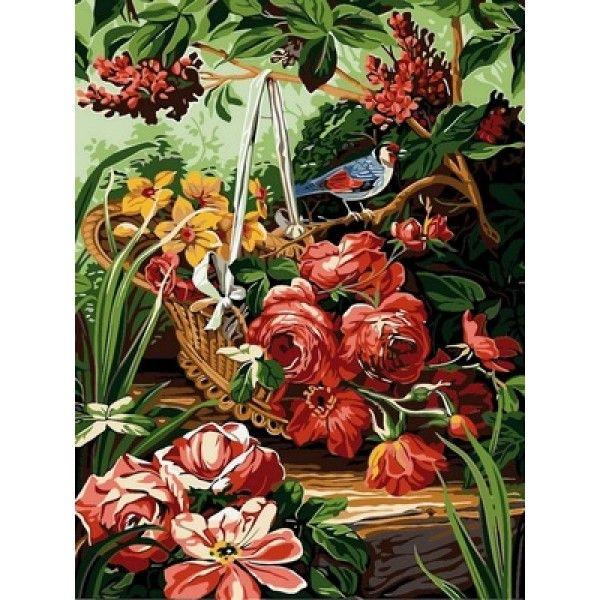 Картина по номерам Корзинка с розами