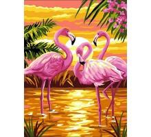 Картина по номерам Фламинго на закате