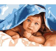 Картина по номерам Любознательный малыш