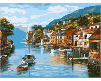 Картина по номерам Дома на воде