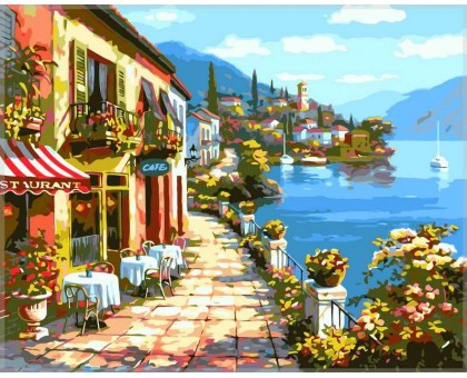 Картина по номерам Уютное кафе
