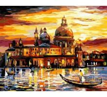 Картина по номерам Золотое небо Венеции