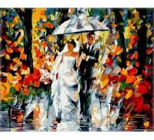 Картина по номерам Свадьба под дождем