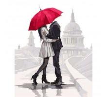 Картина по номерам Влюбленные под зонтом