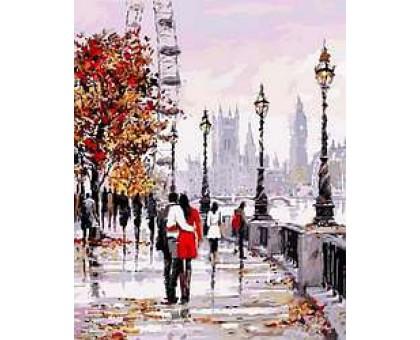 Картина по номерам Осенняя набережная