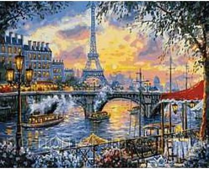 Картина по номерам Париж на закате