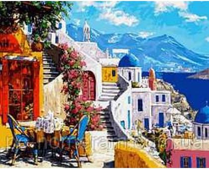Картина по номерам Санторини Уютное кафе