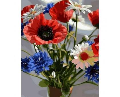 Картина по номерам Букетик полевых цветов