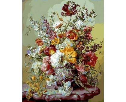 Картина по номерам Тюльпаны и розовые пионы