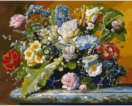 Картина по номерам Роскошный букет и бабочка