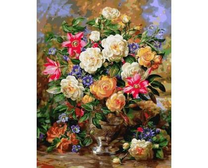 Картина по номерам Лилии и желтые розы