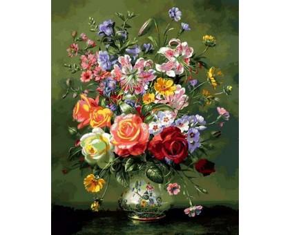 Картина по номерам Коралловые розы и лилии