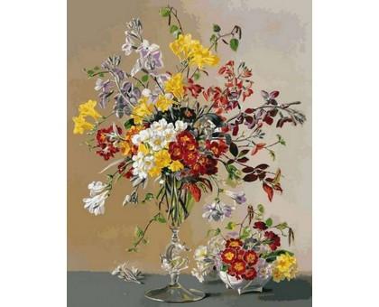 Картина по номерам Букет в изящной вазе