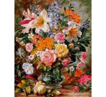 Картина по номерам Букет из роз и лилий