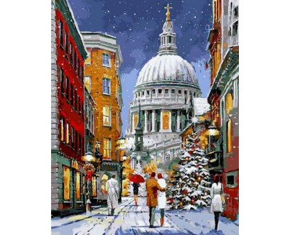 Картина по номерам Рождественская прогулка