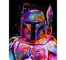 Картина по номерам Звездные войны Боба Фетт