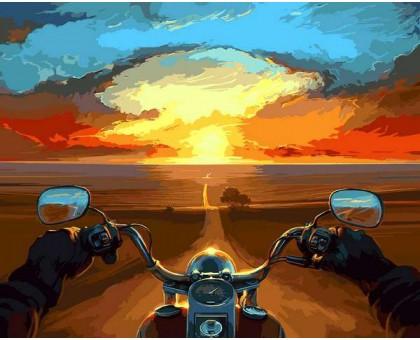 Картина по номерам Дорога в закат
