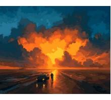Картина по номерам Закатное небо