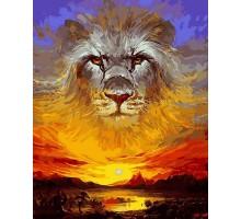 Картина по номерам Закатный лев