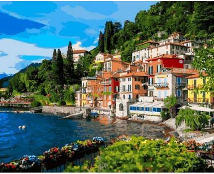 Картина по номерам Италия Озеро Комо