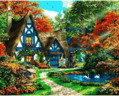 Картина по номерам Домик на опушке леса