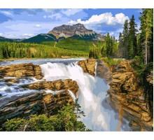 Картина по номерам Водопад в чаще леса