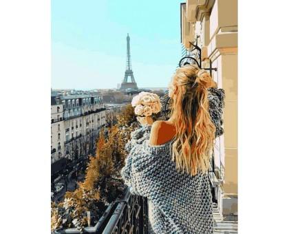 Раскраска по номерам Парижский балкон
