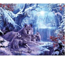 Картина по номерам Волчья зима