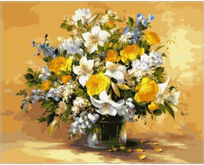 Картина по номерам Безупречная красота цветов