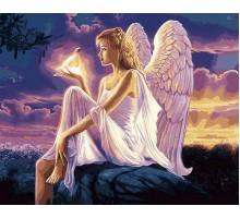 Картина по номерам Ангел с голубкой