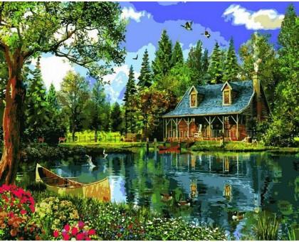 Картина по номерам Летний день у озера