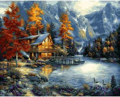 Картина по номерам Осеннее озеро