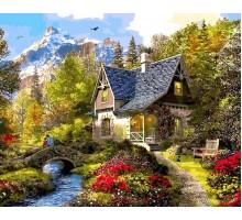 Картина по номерам Вечер в Альпах