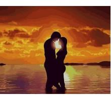 Картина по номерам Влюбленные на закате