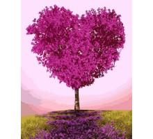 Картина по номерам Дерево-сердце