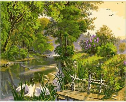 Картина по номерам У реки