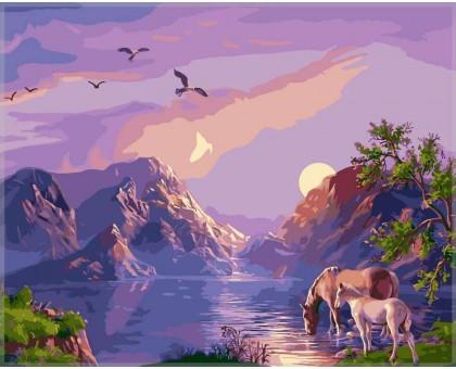 Картина по номерам Закат в горах