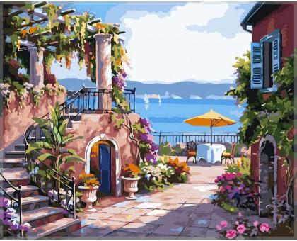 Картина по номерам Тихий дворик