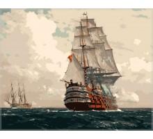 Картина по номерам Корабль в море