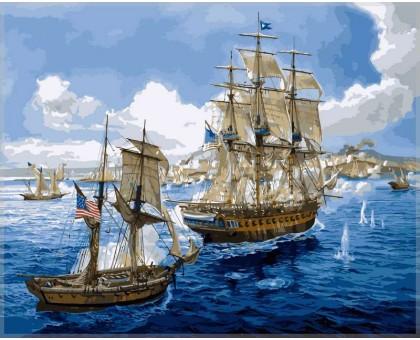 Картина по номерам Морское сражение