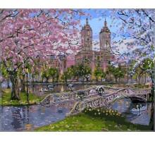 Картина по номерам Весна в парке