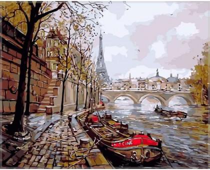 Картина по номерам Набережная Парижа