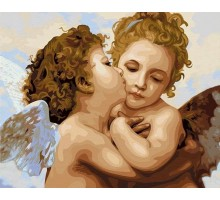 Картина по номерам Поцелуй ангела