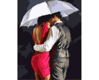 Картина по номерам Романтика под зонтом