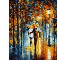 Раскраска по номерам Зонтик для двоих