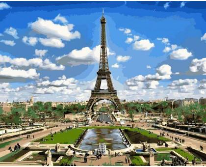 Рисование по номерам Эйфелева башня весной