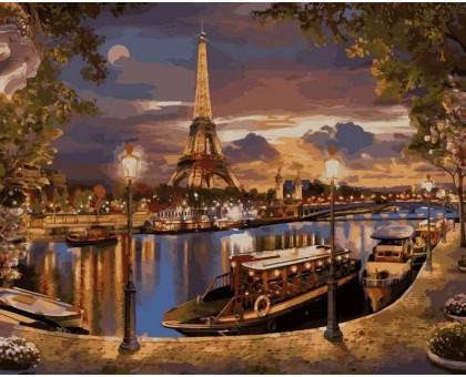 Картина по номерам Париж. Вечер