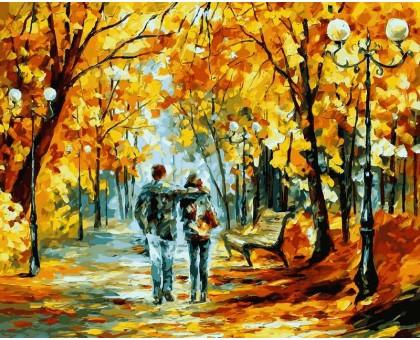 Картина по номерам Теплый октябрь