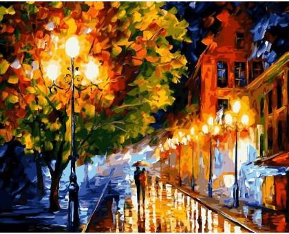 Картина по номерам Прогулка вечерними улочками